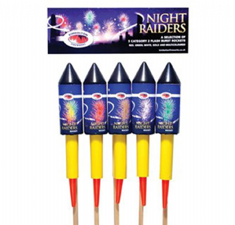 Night Raider Rockets Pack of 5